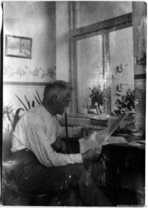 """Jan Rous Na zadní fotce informace: 1937 Tatínek """"u Beránků"""""""