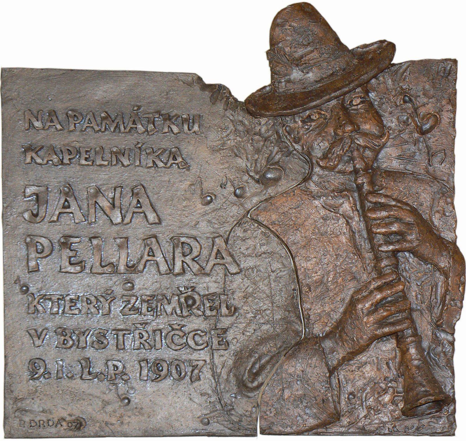 Pavel Drda - Pamětní deska Jana Pelára