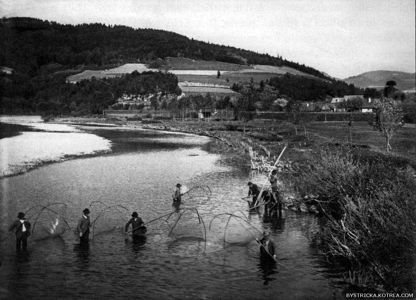 Otakar Šrůtek: Výlov Bečvy, kolem 1910