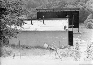 Bystřička – stavba letního kina v roce 1962